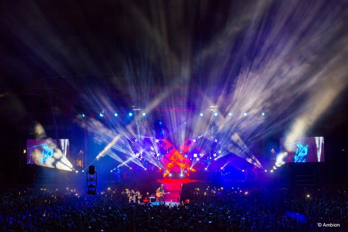 MAC Viper AirFX by Martin Shines on Tour With Sunrise Avenue and Stephan Aue