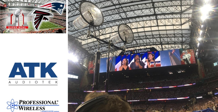 PROFESSIONAL WIRELESS SYSTEMS (PWS) AND ATK/VERSACOM  TEAM UP AGAIN FOR SUPER BOWL LI IN HOUSTON
