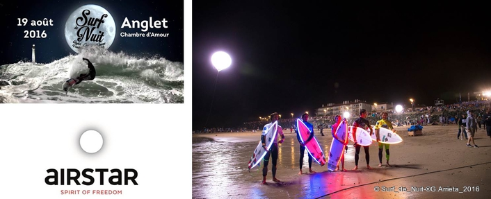 Airstar Wipes Out Darkness for the Surf de Nuit in Anglet