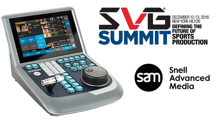 SAM Highlights its LiveTouch Replay System at SVG Summit 2016