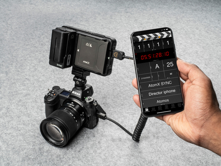 Atomos AtomX SYNC module for Ninja V delivers wireless timecode for troublefree multi-cam and dual system sound