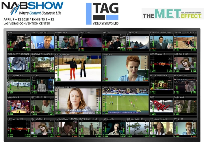 TAG V.S. Breaks Barriers with Introduction of MCM-9000U IP-Multiviewer and Monitoring System  for Uncompressed and Compressed Signals at NAB