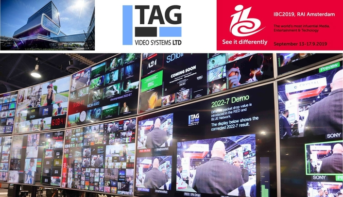 TAG Video Systems to Highlight Expanded IP Workflow Tools and Application-Centric Feature Sets at IBC 2019