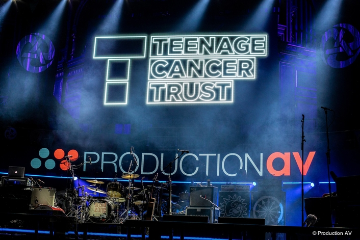 Production AV Supplies Screen and Crew Solution for Teenage Cancer Trust Concerts