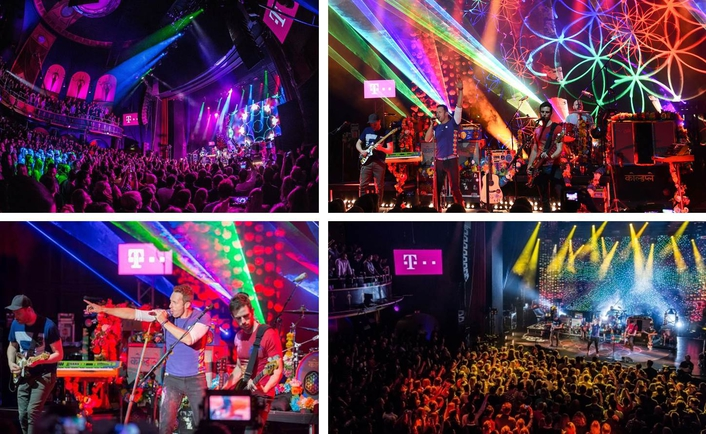 """""""Telekom Street Gig"""" with Coldplay on December 8, 2015 from the Capitol in Offenbach, Germany"""