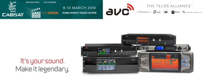 The Telos Alliance® Shows Cutting-Edge, Flagship Broadcast Tech at CABSAT 2016