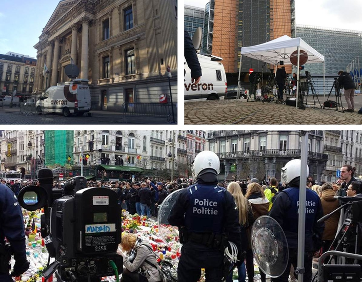 Overon provides broadcast services in Brussels and Havanna