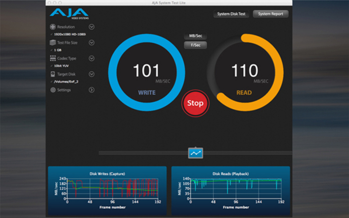 AJA System Test Lite Software Available For Free on the Apple Store
