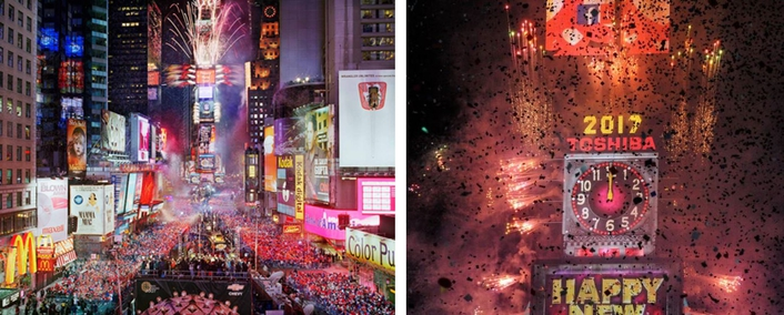 LD Paul Miller Lights 'The NYE Celebration From Times Square'