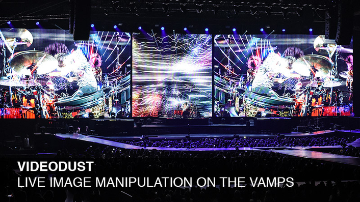 PRG XL Video Supply Lighting and Video for The Vamps—Including Innovative Video Effects Software: VideoDust