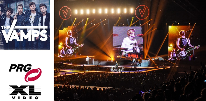 PRG XL Video Supply Lighting and Video for The Vamps
