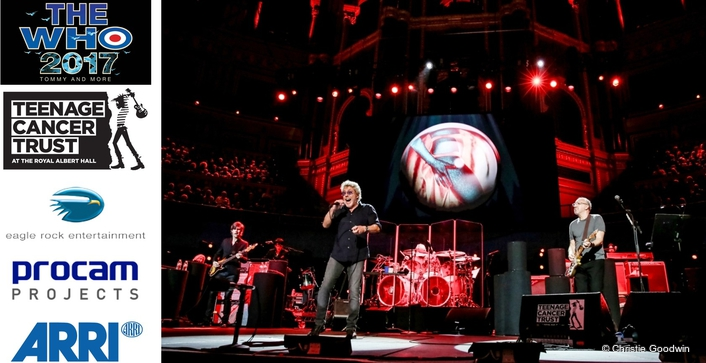 PROCAM PROJECTS KITS OUT THE WHO'S TEENAGE CANCER TRUST SHOW AT ROYAL ALBERT HALL