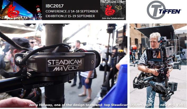 Tiffen International showing innovative new Steadicam M-1 Volt plus other outstanding new products at IBC2017