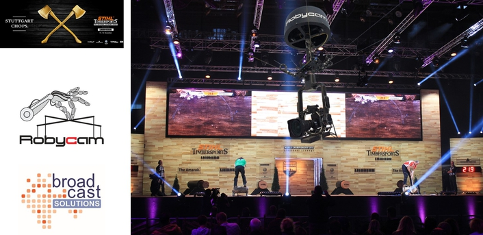 STIHL TIMBERSPORTS® World Championship with new perspectives thanks to the Robycam 3D camera system