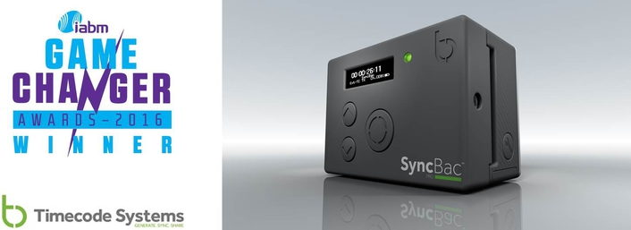 Timecode Systems' SyncBac PRO Wins IABM 2016 Game Changer Award