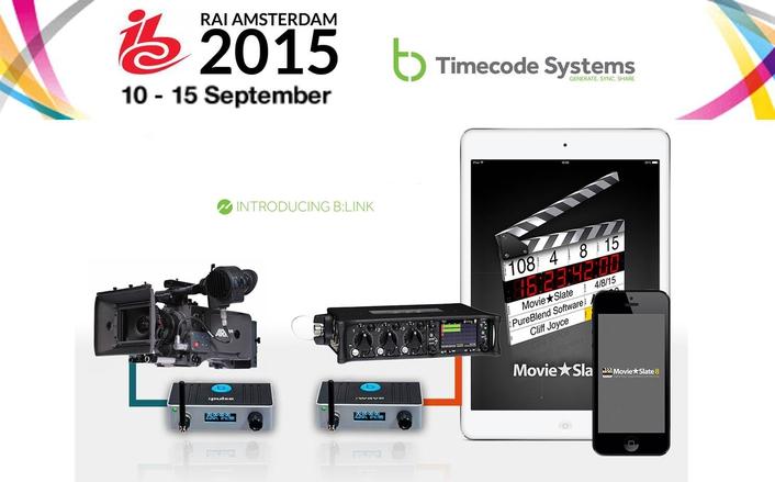 Timecode Systems Highlights Partner Integrations at IBC2015