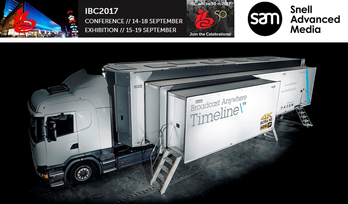 Timeline\TV to showcase its IP 4K HDR OB truck on SAM's IBC2017 booth #9A01