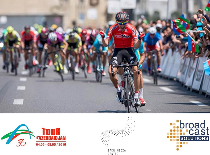Broadcast Solutions Provided Live Production Support for Tour d'Azerbaidjan Bicycle Race
