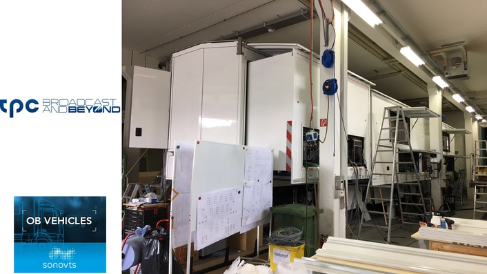 sonoVTS nears completion of first all-IP OB truck for tpc, Switzerland's leading broadcast service provider