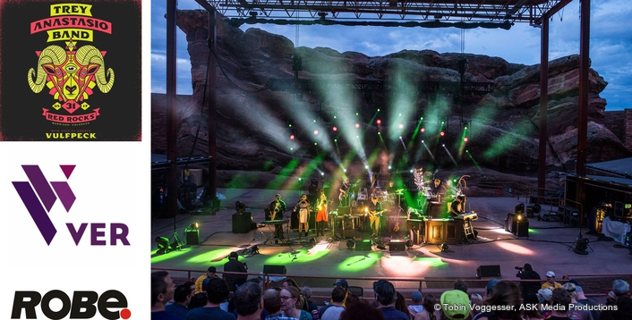 Trey Anastasio Rocks Out with Robe  at Red Rocks