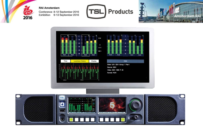 TSL Products To Show World's First Uncompressed Video Over IP Audio Monitor at IBC 2016