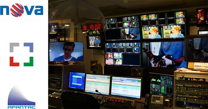 TV Nova Selects Apantac T# Multiviewers