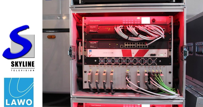 Ü8 of TV Skyline with Lawo equipment is the world's first OB truck with IP Video and Audio Stageboxes