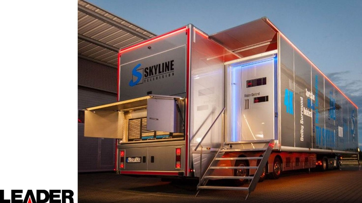 TV Skyline Chooses Leader LV5490 for New OB8 UHD Mobile Production Vehicle