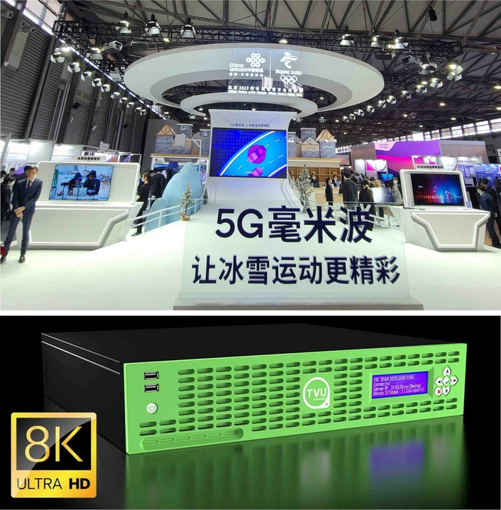 New TVU Rack Router Transmits Live 8K UHD Video over Network Powered by China Unicom 5G mmWave Technology