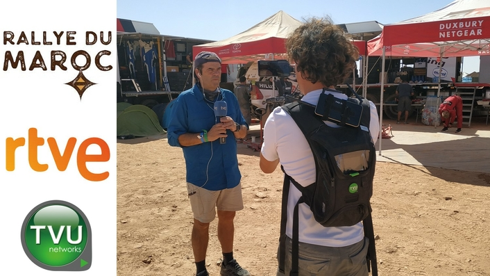 RTVE deploys TVU Networks solutions to capture the action of the 2019 Rally of Morocco