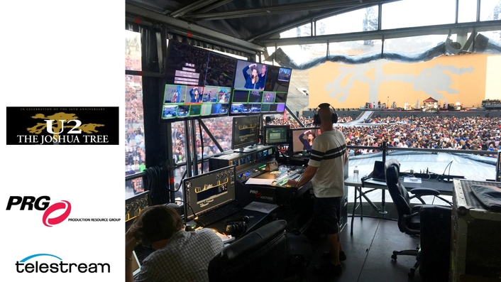 How Telestream Lightspeed Live Helped PRG Support U2 Worldwide Concert Tour