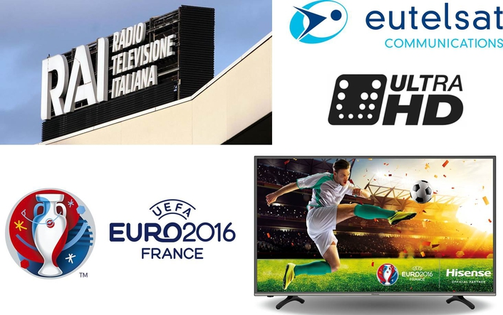 Rai, Eutelsat team for Euro 2016 Ultra HD