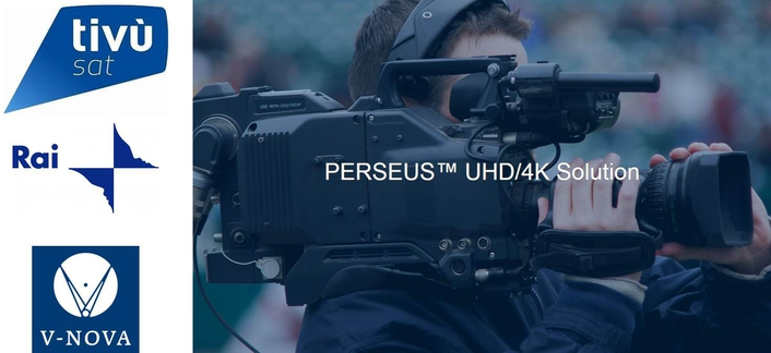 Eutelsat Deploys V-Nova PERSEUS™ to power 4K Contribution of Live UEFA Euro Championship Matches for RAI UHD channel