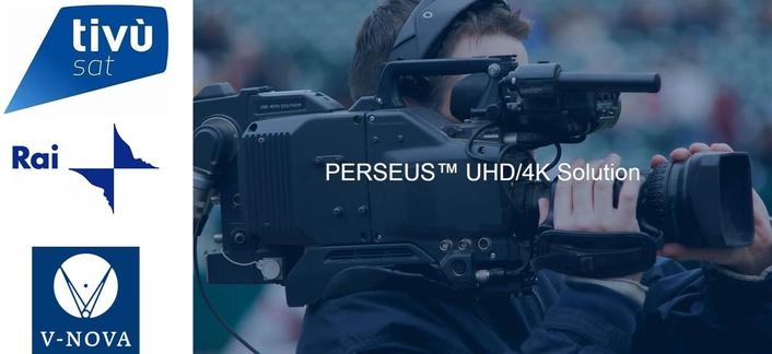 Eutelsat Deploys V-Nova PERSEUS™ to power 4K Contribution of Live UEFA Euro Championship Matches for RAI UHD channel
