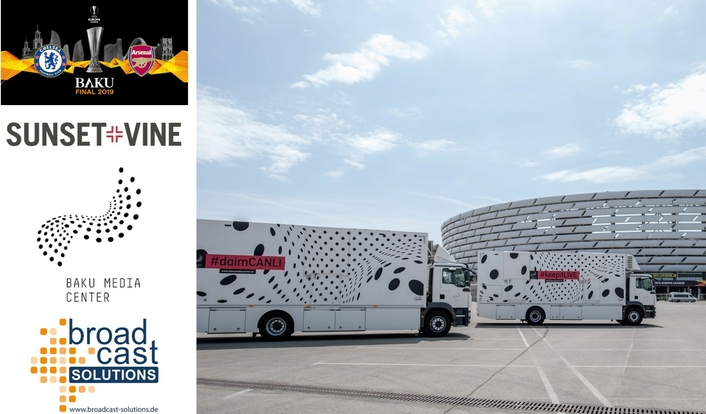 Baku Media Center Trust in Broadcast Solutions OB Trucks at UEFA Europa League Final in Baku