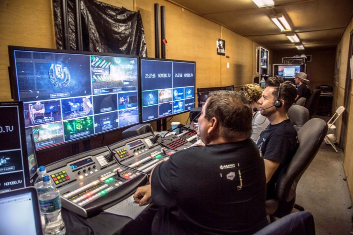NOMOBO produced live streams from behind the scenes for YouTube using Blackmagic Design flight cases as well as the URSA Mini Pro and URSA Mini 4.6K for acquisition