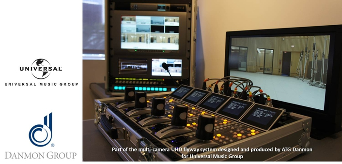 ATG Danmon Completes First Multi-Camera 4K UHD Flyaway Installation for Global Universal Music Group Build