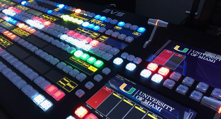 EVS' software-defined switcher drives high-quality live production from a centralized hub for multiple sports across the university campus
