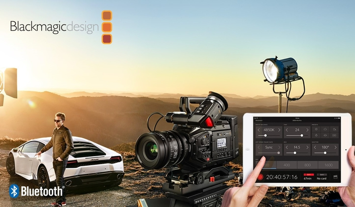 BLACKMAGIC DESIGN SHIPS REMOTE BLUETOOTH CAMERA CONTROL APP FOR URSA MINI PRO