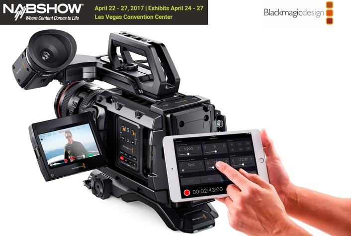 Blackmagic Design Announces Remote Bluetooth Camera Control for URSA Mini Pro