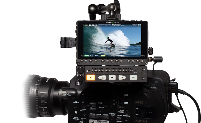 The PIX-LR easily and securely mounts to the bottom of any PIX-E Series monitor via a ¼-inch 20 thread screw