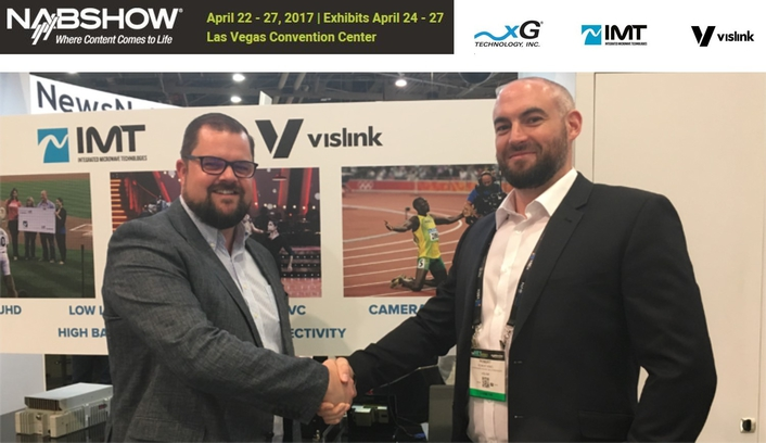 VISLINK UNVEILS ALL-NEW HCAM, HEVC 4K UHD CAMERA TRANSMITTER  AT NAB2017