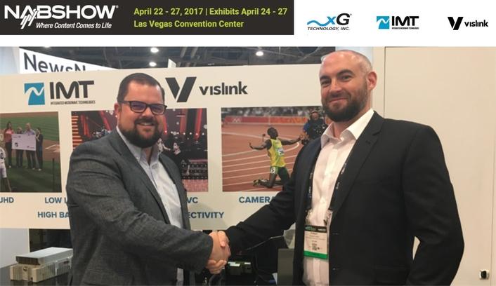 VISLINK UNVEILS ALL-NEW HCAM, HEVC 4K UHD CAMERA TRANSMITTER  AT NAB2017