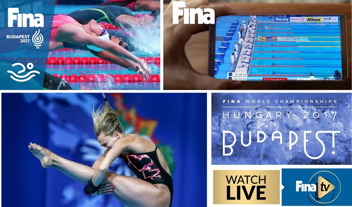 NEW OTT SUBSCRIPTION SERVICE PREMIERES WITH BUDAPEST 2017 – THE FINA WORLD CHAMPIONSHIPS AND WILL OFFER FANS EXCLUSIVE LIVE AND ON-DEMAND PROGRAMMING OF AQUATICS' MARQUEE EVENTS, EXCLUSIVE INTERVIEWS, COMMENTARY AND MORE!