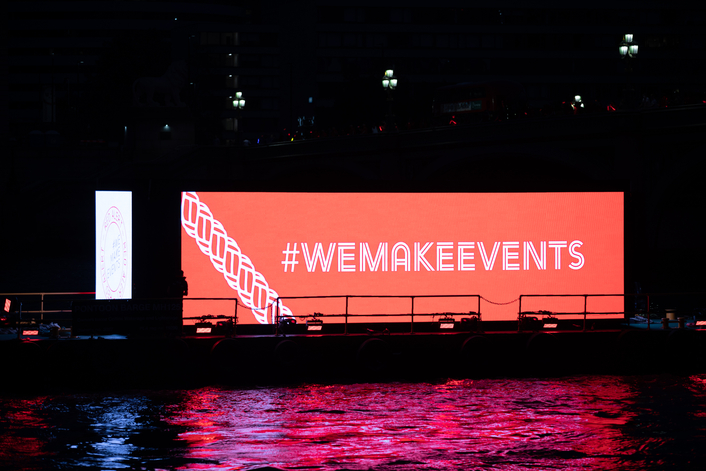 "UK event industry comes together in solidarity under the #WeMakeEvents campaign to ask the government to ""throw us a line"""