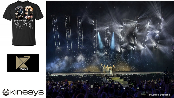 Kinesys Helps Westlife 20 Tour Fly
