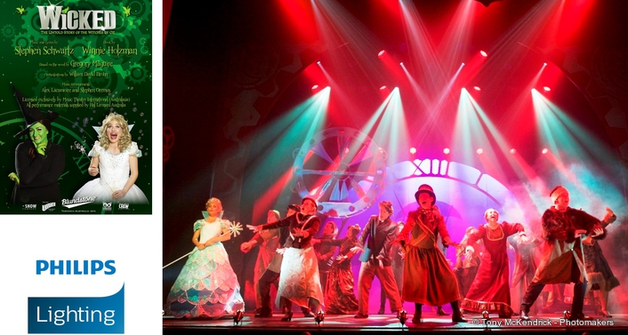 Defying gravity: Philips Lighting delivers magical in-air lighting effects on Australian production of Wicked