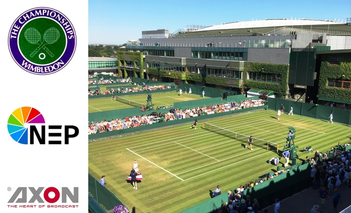 NEP UK deploys Axon Cerebrum at Wimbledon 2018 To Control & Monitor Fully-IP Sports Production