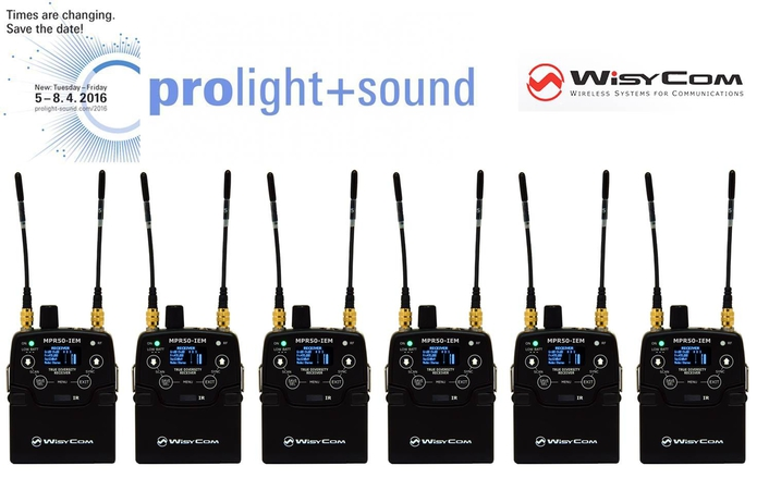 WISYCOM HIGHLIGHTS NEW IEM AT PROLIGHT + SOUND 2016