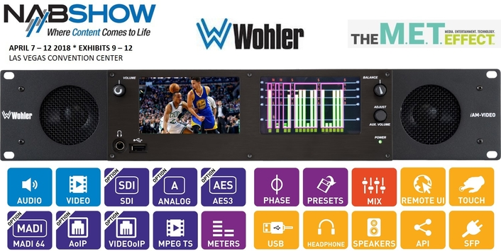 Wohler Demonstrates iAM Series Updates for IP at NAB Show 2018